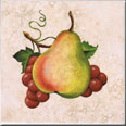 #130 - Pear and Grapes Accent Tile