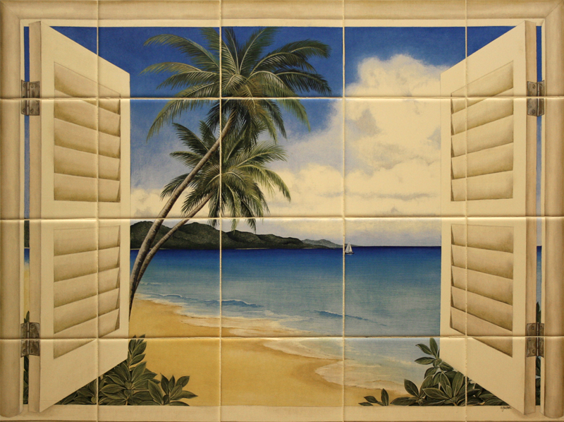Beach Window Mural