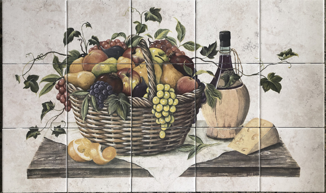 Chianti and Fruit Mural