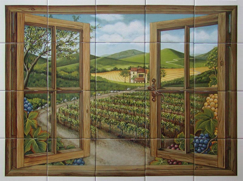 Tuscan Window Mural